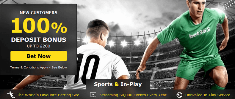 bet365 £200 Bonus + £50 Risk Free Bet