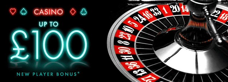 The Bet365 Casino Bonus offers you 100% up to a £100 bonus.
