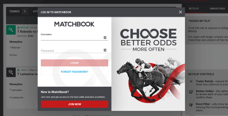 matchbook login