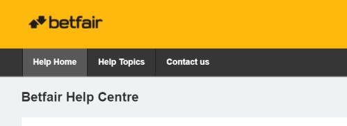 Betfair-help-center