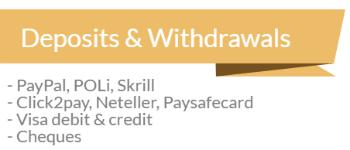 sportingbet deposits withdrawals