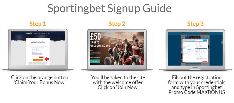 sportingbet signup process