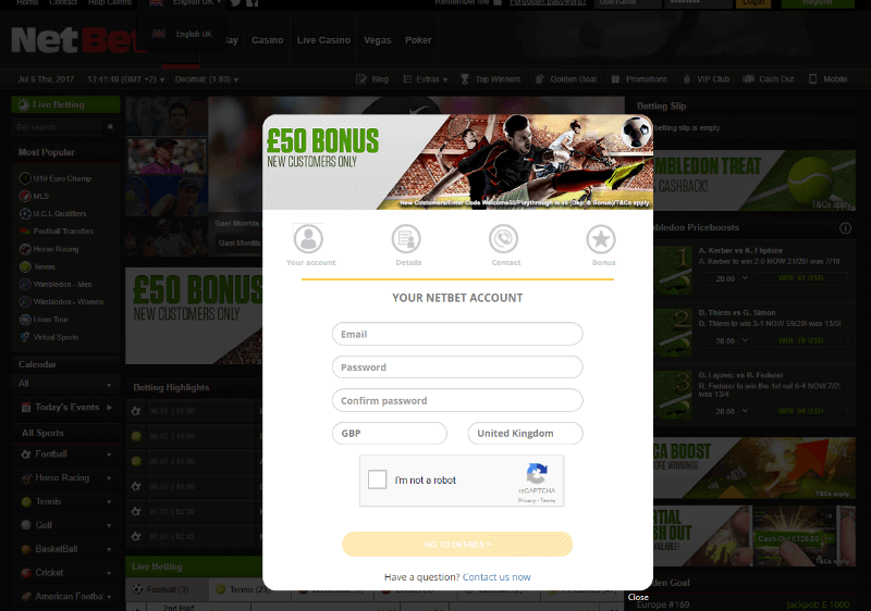 netbet casino login