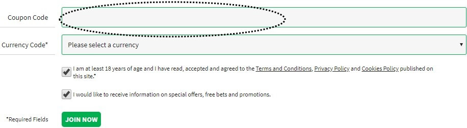 Quinnbet Coupon CodeRegistration