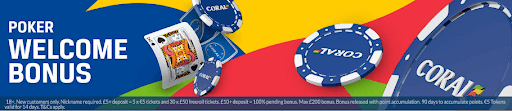 Coral Poker Welcome Bonus