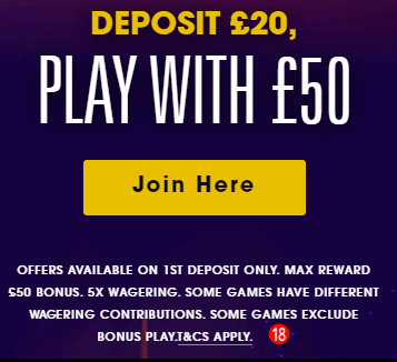 grosvenor casino bonus code