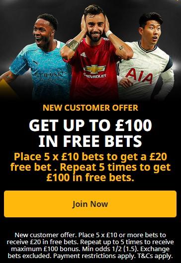 Betfair new customer offer bet 10 get 10