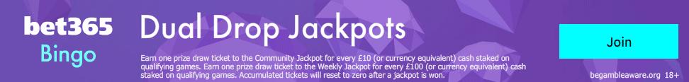 bet365 dual drop jackpot bingo bonus