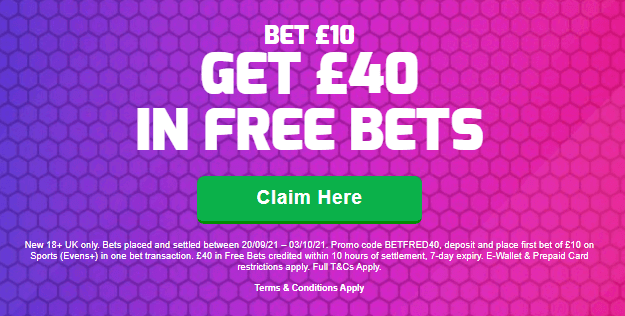 Betfred promo offer