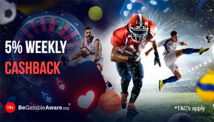 TonyBet Weekly Cashback